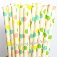 Colorful Polka Dot Paper Drinking Straws http://www.paperstrawssale.com/colorful-polka-dot-paper-drinking-straws-1000pcs-p-383.html