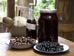 Sloe and Damson (types of plums) gin.  Raspberry? add more sugar. Possibly Cherry? Use plums instead? 500g = 1.1lbs more or less.