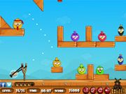 Angry Birds Hunt Hi! Friends this is an interesting and addictive game for everyone. In this game your task is to hunt all the angry birds by slingshot with nut. Each and every hunt your score will increase on your score board. You have 5 lives here. Finish all the levels and win the game.