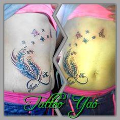 Infinito con plumas . tattoo yao