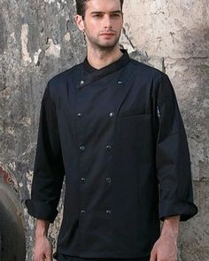 Black Professional Chef, White Long Sleeve, Mens Suits, Double Breasted, Chef Jackets, Overalls, Trousers, Sleeves, Cotton