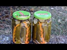 CASTRAVETI IN OTET pentru iarna (reteta simpla, fara conservanti) - YouTube Drink Bottles, Pickles, Cucumber, Cravings, Mason Jars, Drinks, Youtube, Romania, Foods