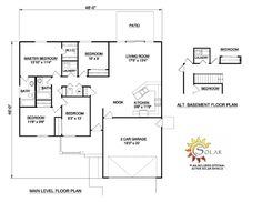 First Floor Plan of Ranch   House Plan 94429