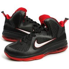 http://www.asneakers4u.com/ Nike Zoom LeBron 9 IX  Black/White/Red0