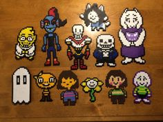 undertale perler beads | Tumblr Hama Beads Mario, Perler Beads, Perler Bead Art, Fuse Beads, Perler Bead Designs, Perler Bead Templates, Pearler Bead Patterns, Perler Patterns, Terraria