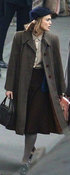 Keira Knightley in 'The Imitation Game' (2014). Costume Designer: Sammy Sheldon