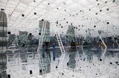 Reflection/Odbicie, Daniel Caravan, Muzeum Śląskie, Katowice Caravan, Louvre, Building, Reflection, Travel, Art, Poland, Art Background, Viajes