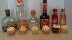Some Alcohol Infused Cupcakes