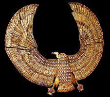 Tutankhamun's vulture collar copywright 2005 Daniel Speck FreeStockPhotos.com
