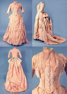 Preparing your entire senior prom appearance always starts with the senior prom dress, and for that you need to have an excellent head start of a minimum of 2 months prior to the prom. 1800s Dresses, Old Dresses, Vintage Dresses, Vintage Outfits, 1880s Fashion, Victorian Fashion, Vintage Fashion, Antique Clothing, Historical Clothing