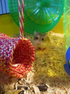 Crochet hamster toy!