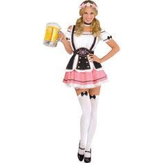Serve up those steins in style with our Adult Oktobermiss Beer Maid Costume! Oktobermiss Beer Maid Costume features a dirndl with an apron and thigh highs. Beer Girl Halloween, Halloween Costume Shop, Halloween Costume Accessories, Halloween Fancy Dress, Halloween 2017, Halloween Outfits, Halloween Ideas, Oktoberfest Fancy Dress, Oktoberfest Costume