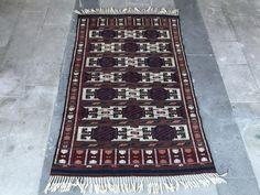 Vintage Turkish Kilim, Distressed Kilim Rug, Handmade Cicim Rug, Bergama Rug, Medium Size, Natural Colors, by NotonlyRugs on Etsy
