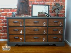 Industrial Style Vintage Dresser Makeover by Prodigal Pieces   www.prodigalpieces.com