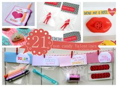 21 non candy valentines gift ideas for kids. Perfect for classroom valentines gifts. Just stick the item in a valentine bag and add a card (dont have to go as fancy as this website suggests). ;)