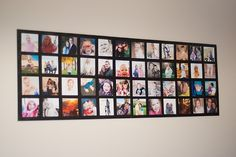 photo wall - I like this post but thinking it needs to be stiffer, wood back or framing?