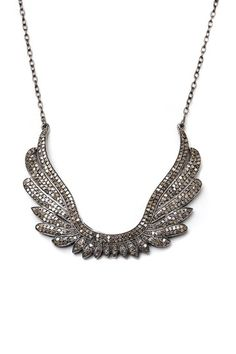 Champagne Diamond Angel Wing Pendant Necklace - 1.60 ctw by Jewels By Lori K on @HauteLook