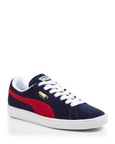 Puma Lace Up Sneakers - Suede Classic Puma Sneakers, Shoes Sneakers, Women's Shoes, Stylo Shoes, Sneakers Fashion, Fashion Shoes, Fresh Shoes, Puma Suede, Pumas Shoes