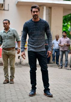 Ajay Devgn clicked on the sets of his film Action Jackson, in Mumbai. #Bollywood #Fashion #Style #Handsome