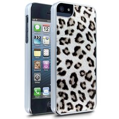 Cellairis Leopard Glitz Case for Apple iPhone 5 - Silver