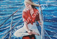 ΚΑΛΛΙΤΕΧΝΗΣ:ΚΡΑΤΗΜΕΝΟΥ ΚΩΝΣΤΑΝΤΙΝΑ ΔΙΑΣΤΑΣΕΙΣ:70X100CM ΑΚΡΥΛΙΚΑ TIMH:850,00 € Blue Artwork, Shades Of Blue, Summer, Shopping, Summer Time