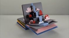 Many videos have used the concept of the pop-up book as a motif for animation, but this video by paper engineer Helen Friel, photographer Chris Turner, and animator Jess Deacon uses an actual custo. Arte Pop Up, Pop Up Art, Diy Paper, Paper Art, Paper Crafts, Up Book, Book Art, Cuento Pop Up, Stop Frame Animation