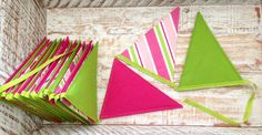 Paper Bunting gorgeous Candy stripe paper by SummerLimeDesigns