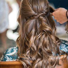 semirecogido novia peinado