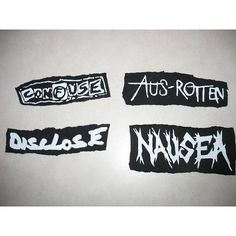 stencilrevolution - anarcho crust punk patches found on Polyvore featuring polyvore, patches, accessories, filler, punk and quotes