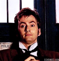 He's totally fixing that collar after making out with Rose. David Tennant, Tenth Doctor, Doctor Who 10, Matt Smith, John Mcdonald, Science Fiction, Broadchurch, Don't Blink, Torchwood