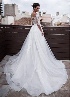 189.00  Marvelous Tulle   Organza Jewel Neckline 2 In 1 Wedding Dresses  With Detachable Skirt   Lace Appliques   Beadings. 2 In 1 Wedding DressPlus  Size ... adae542546e7
