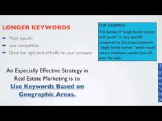 Realtor Tech Tip: How to Improve Your Website Ranking, Part II - Long Tail Keywords - YouTube Real Estate Marketing