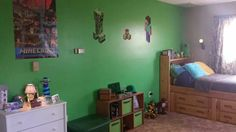 New Minecraft Room! i like this idea for my sweet boys room