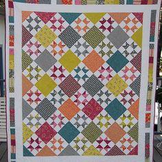 Threadbias: Star Friendship Companion Quilt by Caribousmom