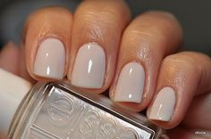 Perfect bridal nail color!