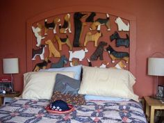 Show your love of all dogs with this creative dog headboard!