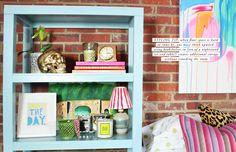 small spaces: bookshelf in leu of nightstand