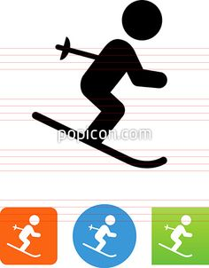 Skier Icon - Illustration from Popicon