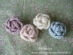 簡単♪miniバラモチーフ #58の作り方|編み物|編み物・手芸・ソーイング|ハンドメイドカテゴリ|アトリエ