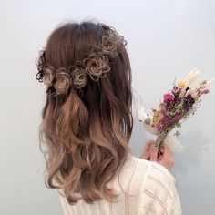 Kawaii Hairstyles, Pretty Hairstyles, Girl Hairstyles, Wedding Hairstyles, Cosplay Hair, Hair Arrange, Japanese Hairstyle, Hair Reference, Hair Designs