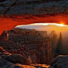 Anasazi view of sunset...