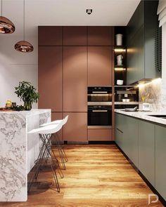Home Interior Cocina .Home Interior Cocina Luxury Kitchen Design, Kitchen Room Design, Luxury Kitchens, Home Decor Kitchen, Interior Design Kitchen, Home Kitchens, Kitchen Ideas, Kitchen Designs, Galley Kitchens