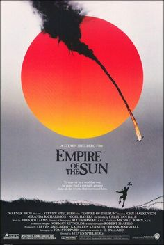 Great movie, serious acting by a young Christian Bale, Empire of the Sun 1987 Steven Spielberg