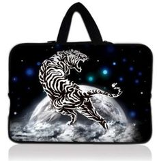 "White Tiger 17.1"" 17.3"" inch Laptop Bag Sleeve Case with Hidden Handle for Apple MacBook pro 17/Dell Inspiron 17R Alienware M17x/Samsung 700 Sony Vaio E 17/HP d"