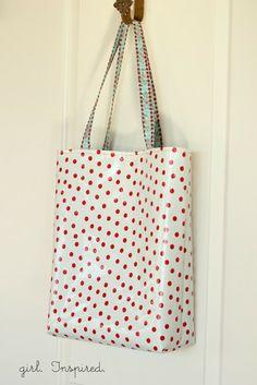 The Spring Market Tote - Tutorial   Waterproof bag for school run...