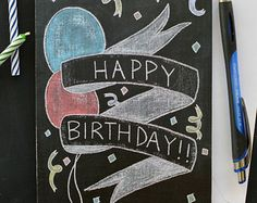happy birthday chalkboard art - Google Search