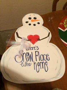Krafty KutOuts Snowman Door hanger