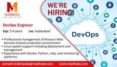 job alert devops engineer with 5 9 years experience in docker
