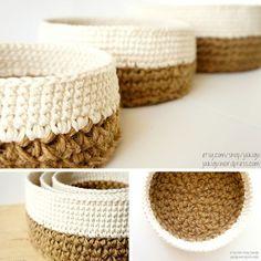 super ideas for knitting bag pattern free ganchillo Crochet Diy, Crochet Gifts, Crochet Hooks, Crochet Baskets, Knitting Stitches, Knitting Patterns Free, Crochet Patterns, Start Knitting, Knitting Needles