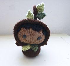 Amigurumi tree knit tree Amigurumi doll knit amigurumi amigurumi girl tree doll ready to ship hand knit knit doll black hair by SixthandDurian